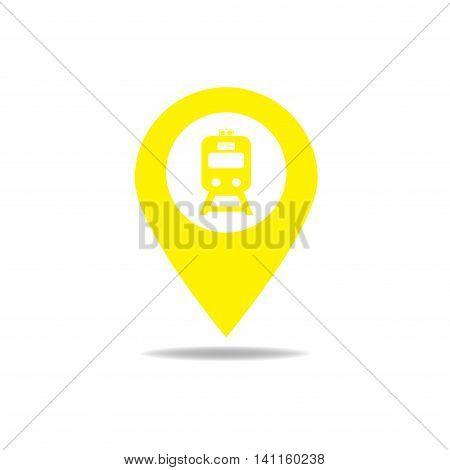 Map-poin-train-yellow