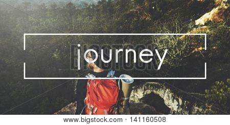 Explore Journey Tour Travel Trek Trip Vacation Concept