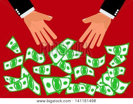 Cash Giveaway Blowout - Hands drop, pitch or throw cash or money down for people to catch