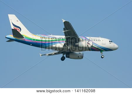 Hs-pgx Airbus A319-100 Of Bangkok Airway. Landing To Chiangmai