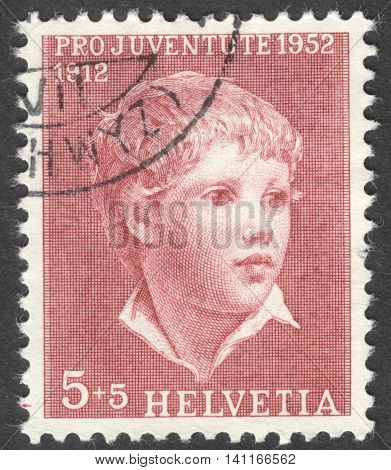 MOSCOW RUSSIA - CIRCA MAY 2016: a post stamp printed in SWITZERLAND shows