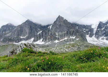 Aiguile Du Chardonnet Of Mont Blanc