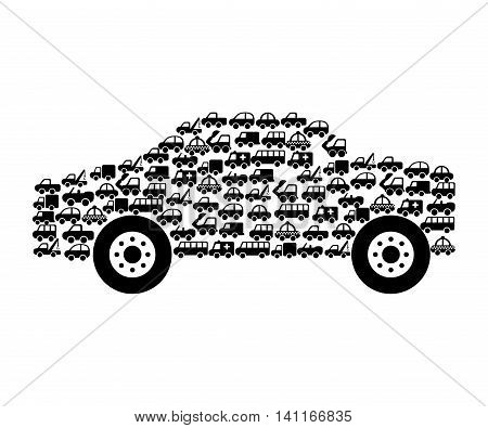 car auto sedan icon vector illustration design