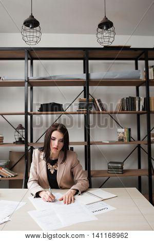 Business Paperwork Bureaucracy Documents Inspection Record Concept
