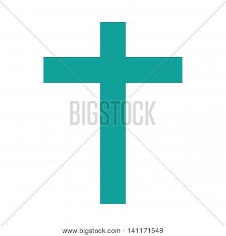 cross christian religion icon vector illustration design