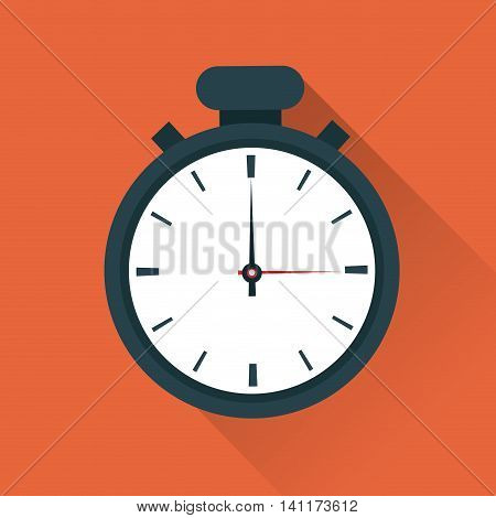Time concept represented by chronometer icon. Colorfull and flat illustration.