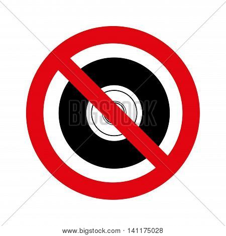 denied circle red prohibited icon vector illustration design
