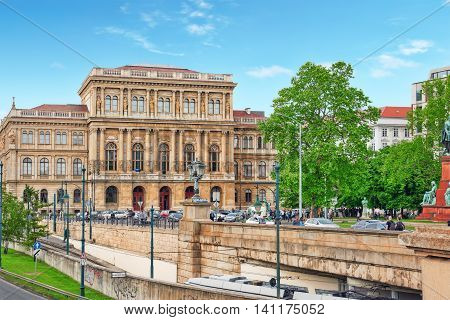 Budapest, Hungary-may 02, 2016: Hungarian Academy Of Sciences-is The Most Important And Prestigious
