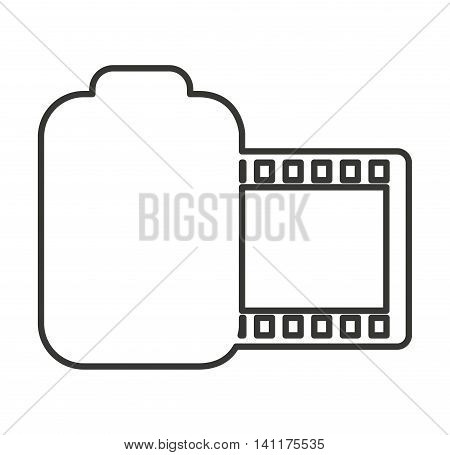 roll camera photographic isolated icon vector illustration design
