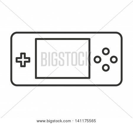 control game portable isolated icon vector illustration design