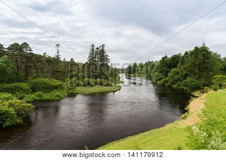 nature and landscape concept - view to river in ireland valley