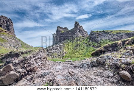 Scottish Trottermish - The Prison Volcanic Rocks of the Quiraing Hill