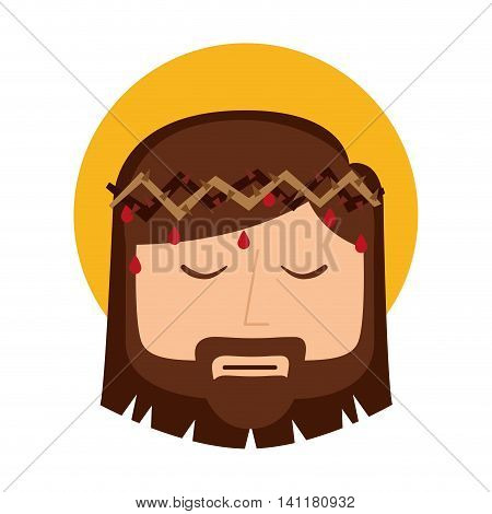 jesus christ man icon isolated vector graphic