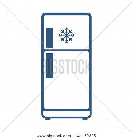 Fridge supply house electric appliance icon. Isolated and flat illustration. Vector graphic