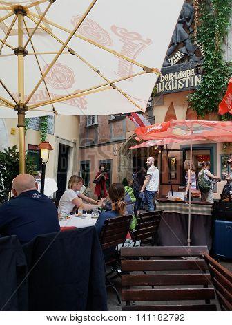 Outdoor Restaurant In Wien