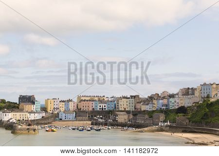 An image of the picturesque harbour at Tenby Pembrokeshire South Wales UK