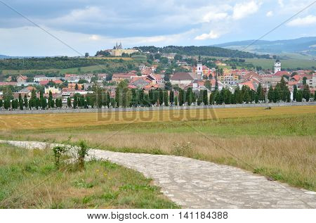 View on a Spisske Podhradie Town in Slovakia.