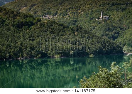 Garfagnana Tuscany Italy - The artificial lake of Gramolazzo Serchio Valley Tuscany Italy