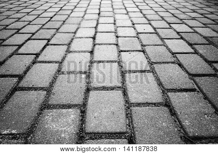 Gray Cobble Road Background Photo
