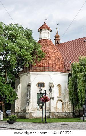 Funeral chapel of saint Anna near the parish church Skalica Slovak republic. Religious architecture. Travel destination. Cultural heritage. Beautiful place.
