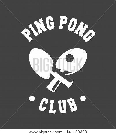 vector illustration of a sports club emblem on a black background