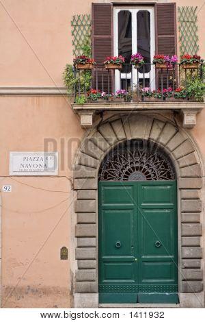 Door In Navona Square - Rome