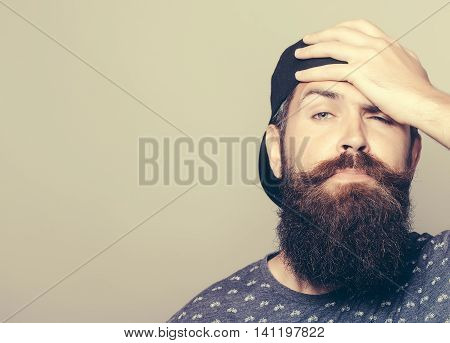 Handsome Man With Long Beard