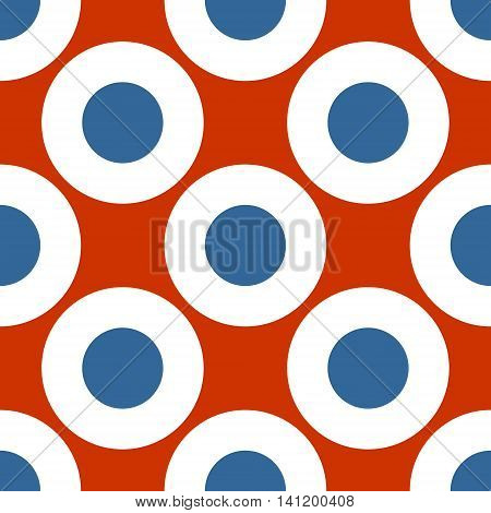 Netherlands flag design concept. Seamless geometric pattern. Circles painted by colors from Germany national flag