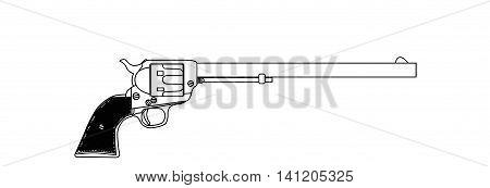 The Wyatt Earp Buntline Special long barrel six gun.