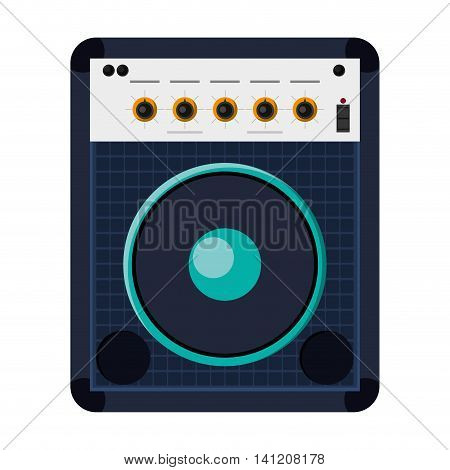 flat design stereo speaker icon vector illustration