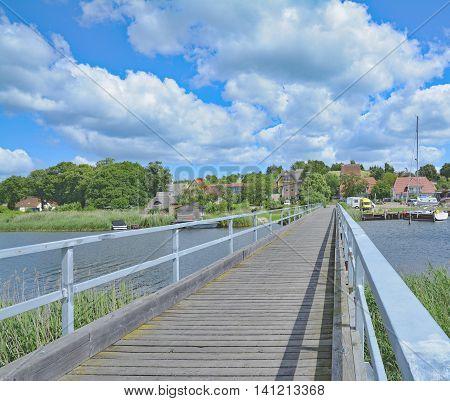 Village of Seedorf at Lake Neuensiener See near Sellin,Ruegen Island,baltic Sea,Mecklenburg western Pomerania,Germany