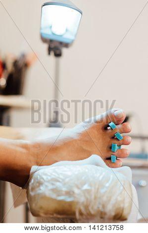 Master Pedicure Nails And Cuticles Closeup .