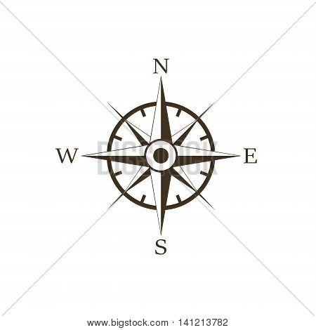 Wind rose retro design vector icon isolated