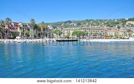 Village of Santa Margherita Ligure at italian Riviera,Liguria,Italy