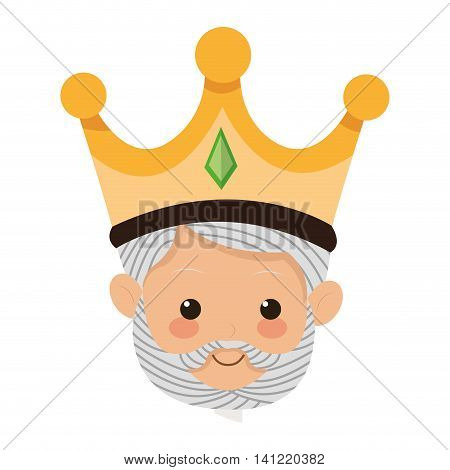 flat design gaspar magi icon vector illustration