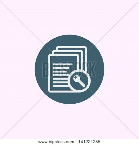 Files Access Icon In Vector Format. Premium Quality Files Access Symbol. Web Graphic Files Access Si