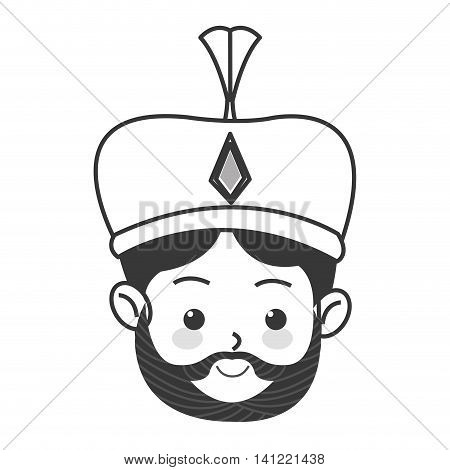 flat design melchior magi icon vector illustration