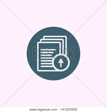 Files Up Icon In Vector Format. Premium Quality Files Up Symbol. Web Graphic Files Up Sign On Blue C