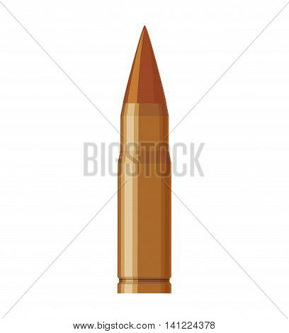 bullet armed forces military icon. Isolated and flat illustration. Vector graphic