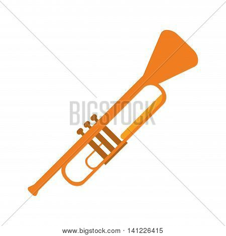 flat design single trumpet icon vector illustration