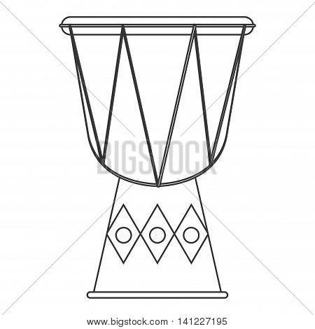 flat design single djembe icon vector illustration
