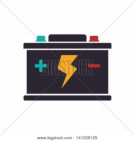 Battery car energy power charge icon. Isolated and flat illustration. Vector graphic