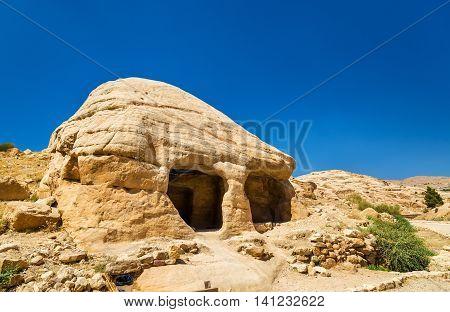 View of ancient tombs at Petra - Jordan