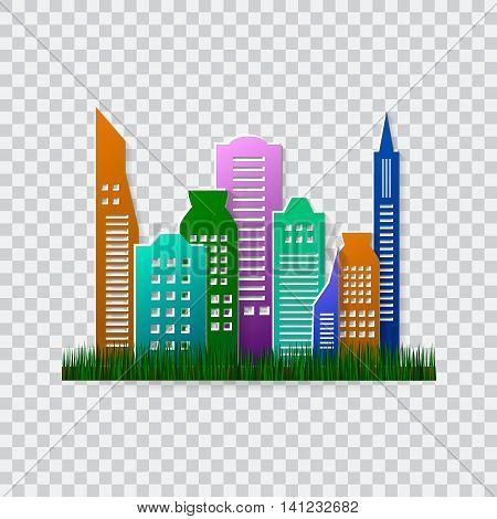 Go green design template. Environment vector illustration. Ecofriendly concept. Green city