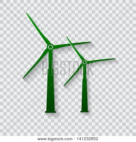 Wind generator icon. Wind turbines. Vector illustration