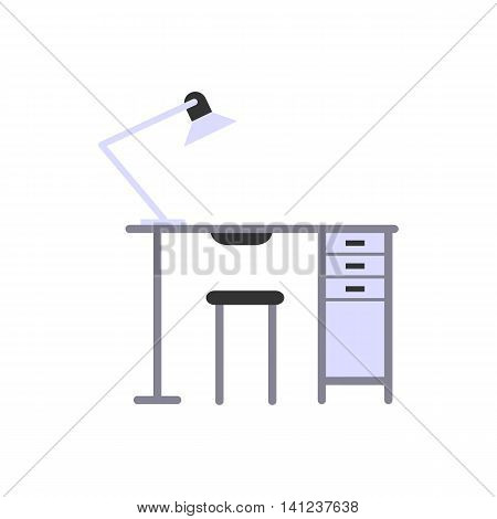 The manicure table. Flat design. Isolated objects on white background. Vector illustration.