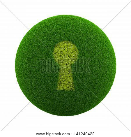 Grass Sphere Keyhole Icon