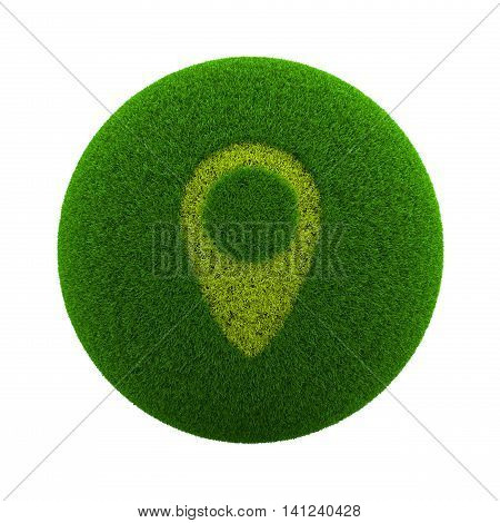 Grass Sphere Map Placeholder Icon