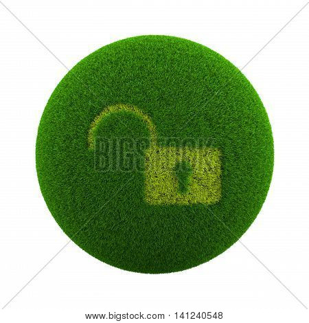 Grass Sphere Open Lock Icon