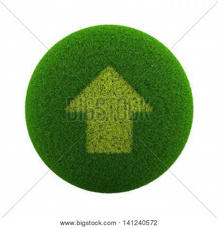 Grass Sphere Up Arrow Icon